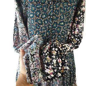 Vintage Dresses - VTG 90s New Addition Paisley Long Sleeve Dress